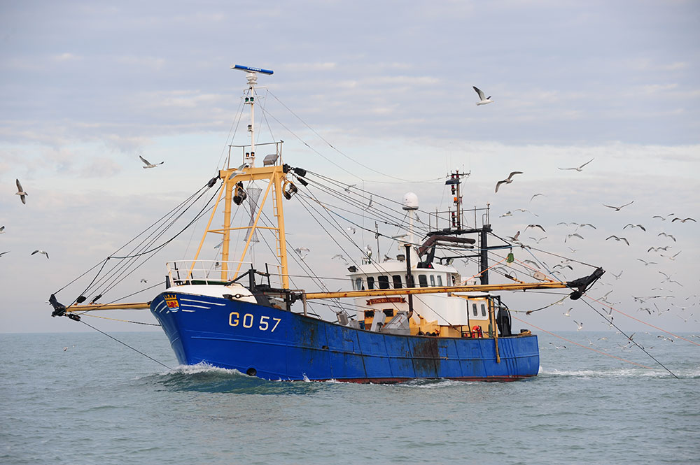 Steel Beamtrawler GO-57 for sale.