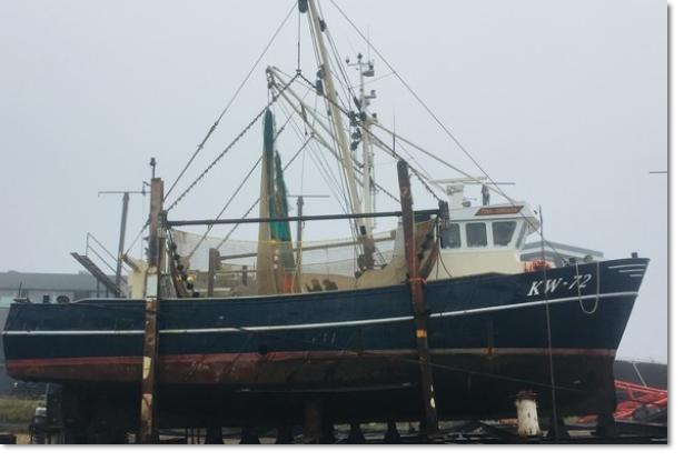 KW-72 Tina Adriana sold to Urk for conversion into crabber UK-258 Jacoba